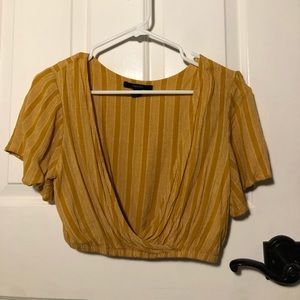 Forever 21 Yellow crop top